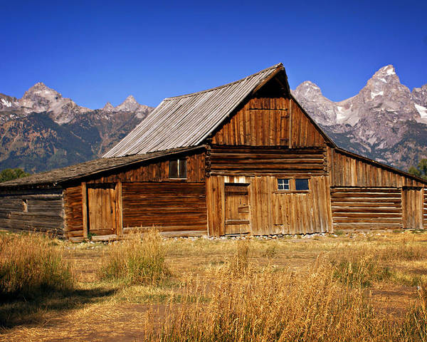 Grand Teton Poster featuring the photograph Mormaon Barn 3 by Marty Koch