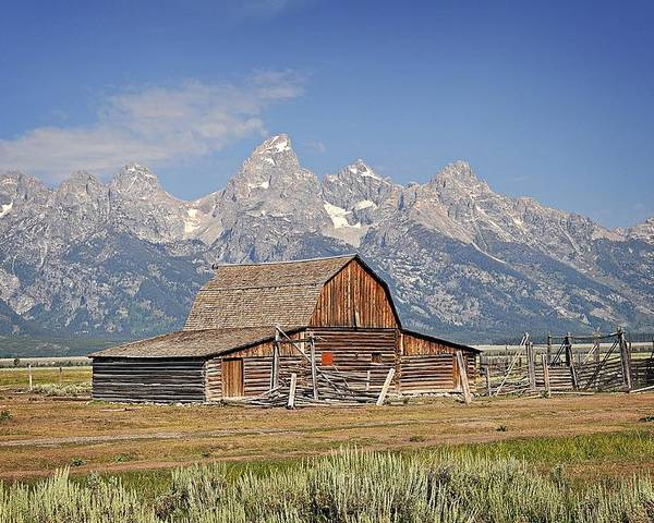Barn Poster featuring the photograph Mormon Barn 2 by Marty Koch