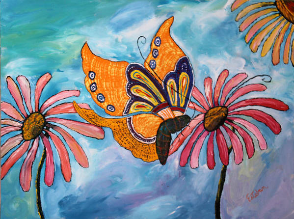 Butterflies Poster featuring the painting Morning In Rio Viejo by Stephen Harrelson