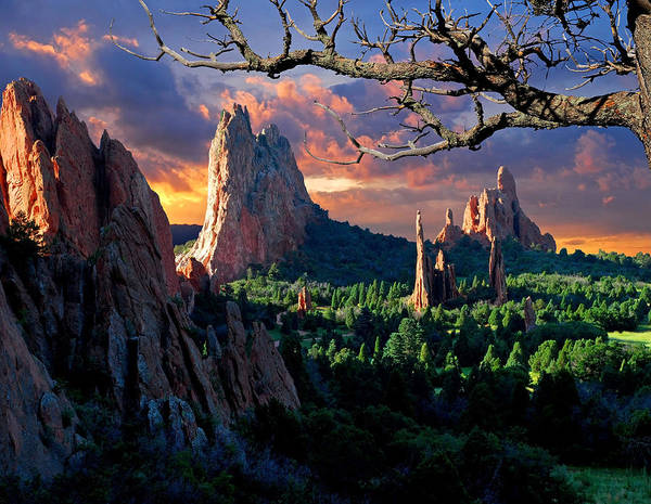 Colorado Springs Poster featuring the photograph Morning Light At The Garden Of The Gods by John Hoffman