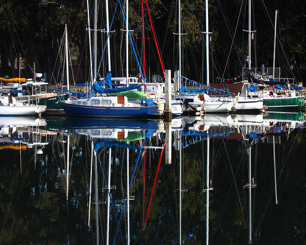 Morro Bay Poster featuring the photograph Morning Reflections by Art Block Collections
