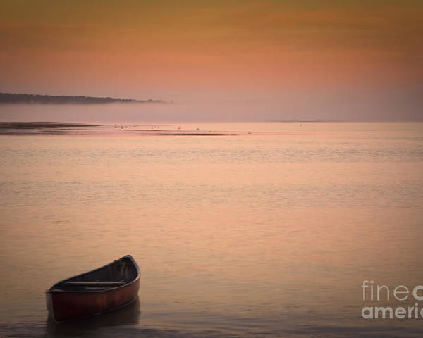 Sunrise Poster featuring the photograph Morning Sea Smoke by Brenda Giasson