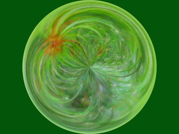 Photo Poster featuring the photograph Morphed Art Globe 5 by Rhonda Barrett