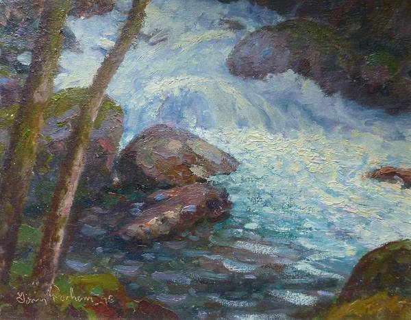Streams Poster featuring the painting Morraine Ck. Fiordland Nz. by Terry Perham
