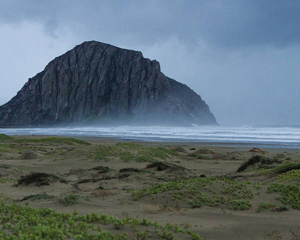 California Central Coast Poster featuring the photograph Morro Rock by Jim Moss