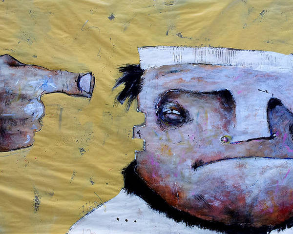 Expressionistic Painting Poster featuring the painting Mortalis No. 15 by Mark M Mellon