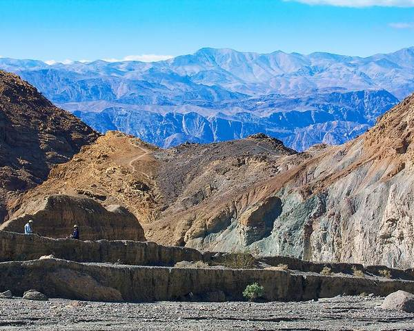 California Poster featuring the photograph Mosaic Canyon Picnic by Stuart Litoff