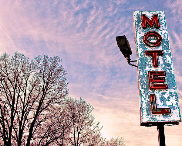 Motel Sign Poster featuring the photograph Motel Sign by John Henkel