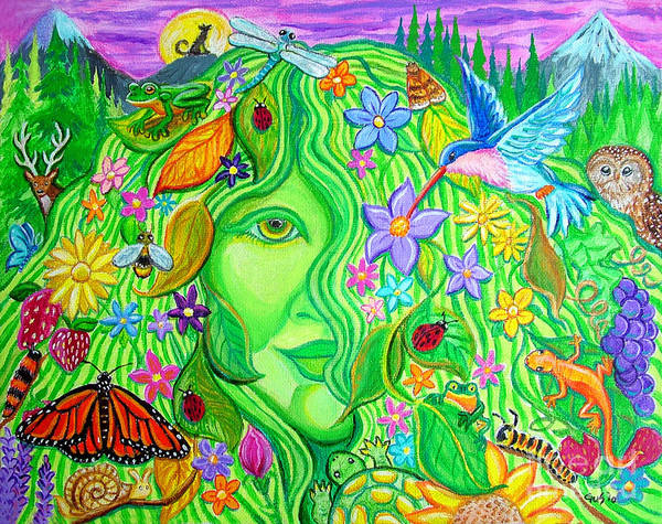 Mother Nature Poster featuring the painting Mother Nature by Nick Gustafson