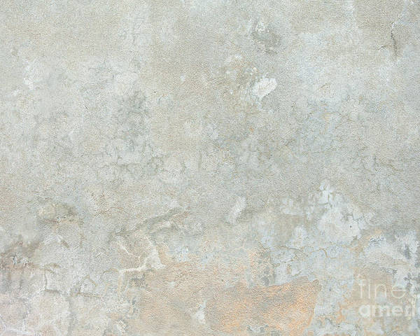 Grained Poster featuring the photograph Mottled Beige Cement by Jim Pruitt