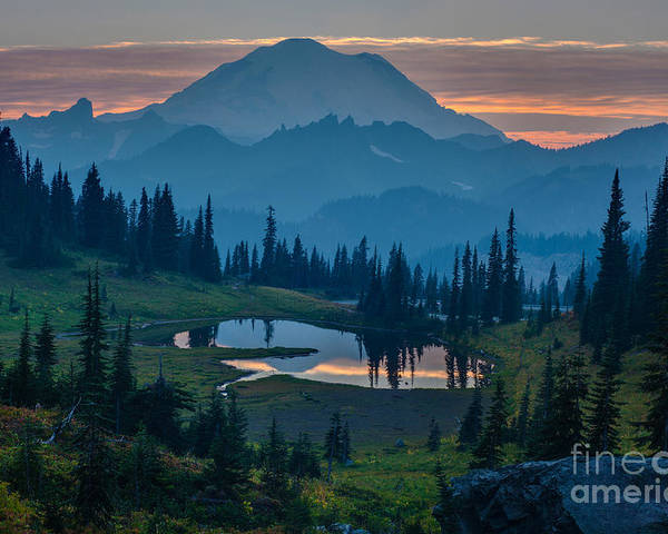 Rainier Poster featuring the photograph Mount Rainier Layers by Mike Reid