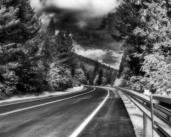 Mountain Poster featuring the photograph Mountain Highway by Mick Burkey