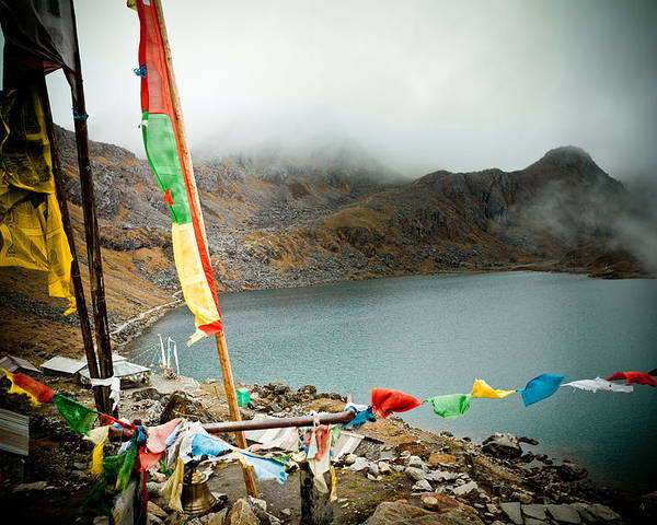 Gosaikunda Poster featuring the photograph Mountain Lake Gosaikunda Himalayas by Raimond Klavins