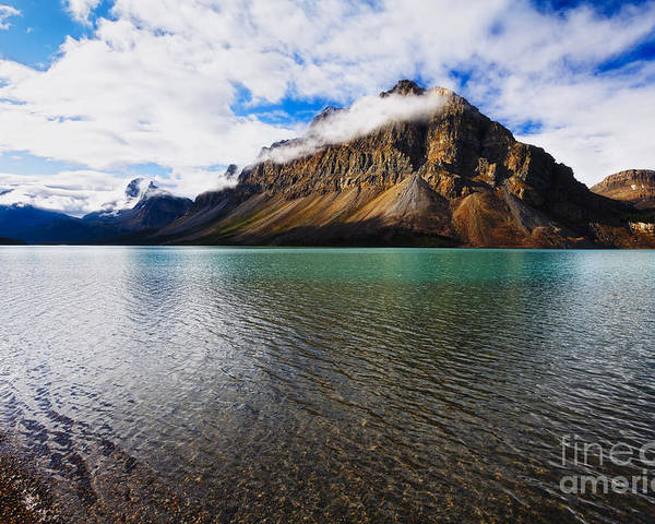 Alberta Poster featuring the photograph Mountain Lake Scenic by George Oze