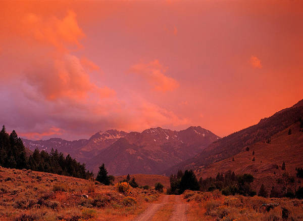 Boulder Mountains Poster featuring the photograph Mountain Road by Leland D Howard