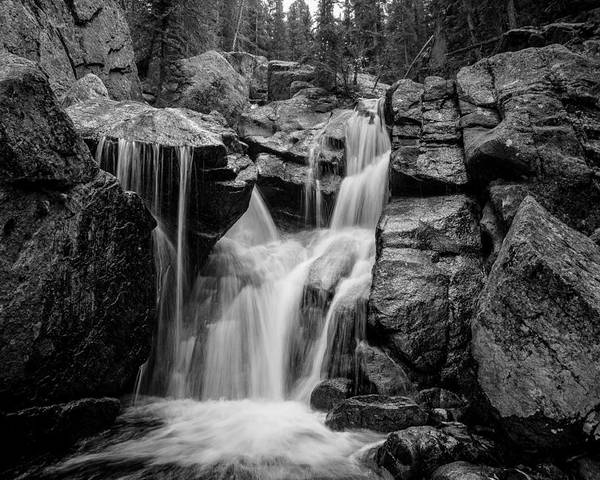 Waterfall Photography Poster featuring the photograph Mountain Waterfall by Garett Gabriel