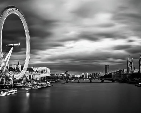 London Poster featuring the photograph Movement by Arthit Somsakul
