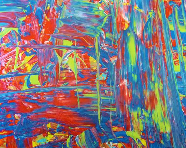 Original Poster featuring the painting Movements Of Acrylic by Artist Ai