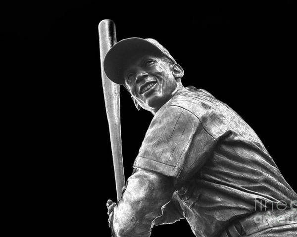 Ernie Banks Poster featuring the photograph Mr. Cub by David Bearden