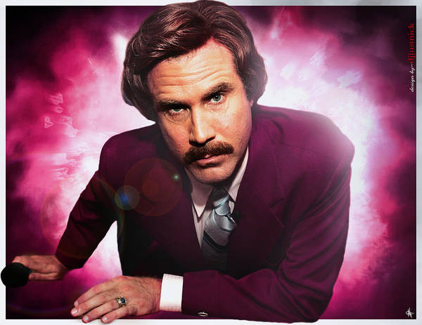 Mr. Ron Burgundy Poster featuring the photograph Mr. Ron Mr. Ron Burgundy From Anchorman by Nicholas Grunas