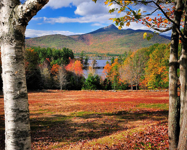 Mount Poster featuring the photograph Mt Chocorua - A New Hampshire Scenic by Expressive Landscapes Fine Art Photography by Thom