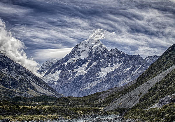 New Zealand Poster featuring the photograph Mt. Cook by Arnie Arnold