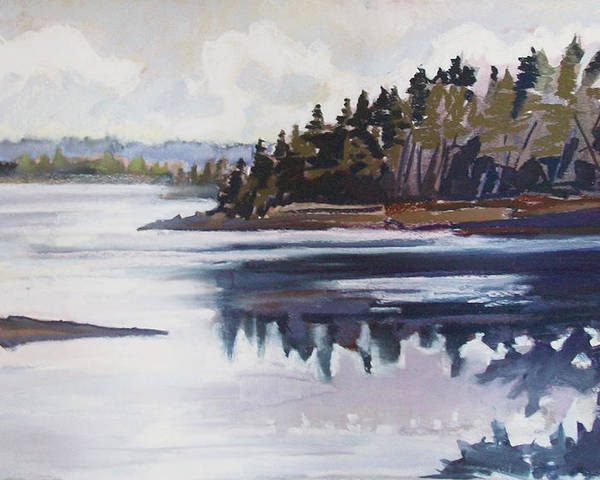 Downeast Maine Poster featuring the pastel Mt. Desert Morning by Grace Keown