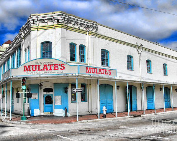 Mulates Poster featuring the photograph Mulates New Orleans by Olivier Le Queinec