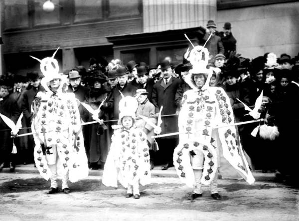 1909 Poster featuring the photograph Mummers Circa 1909 by Bill Cannon