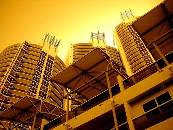 Murano Building Miami Print Poster featuring the photograph Murano Grande, Miami by Monique's Fine Art