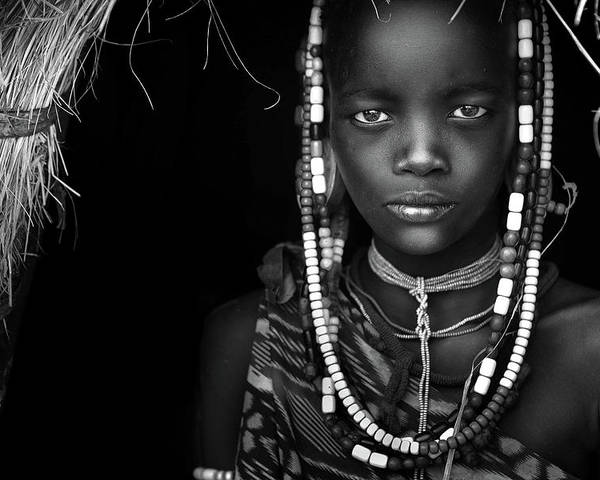 Documentary Poster featuring the photograph Mursi Girl by Hesham Alhumaid
