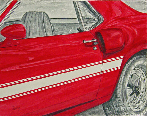 Car Poster featuring the painting Muscles by Regan J Smith