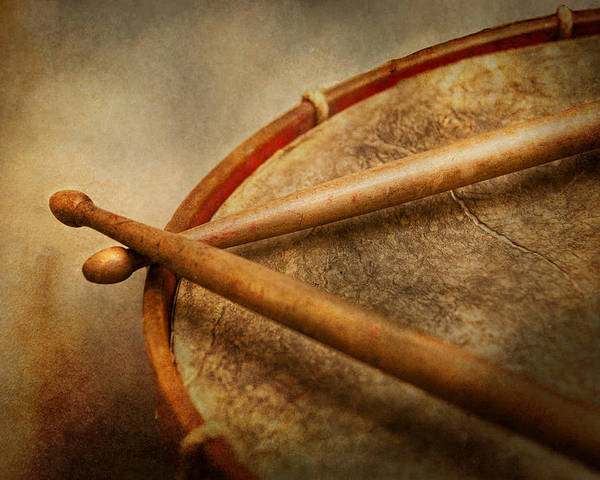 Hdr Poster featuring the photograph Music - Drum - Cadence by Mike Savad