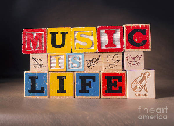 Music Is Life Poster featuring the photograph Music Is Life by Art Whitton