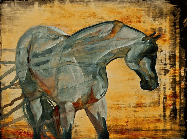 Horses Poster featuring the painting My Final Notice by Jani Freimann