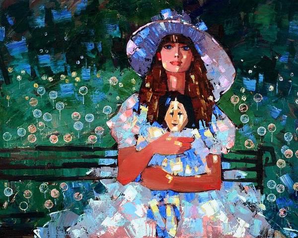 Oil On Canvas Poster featuring the painting My Pierrot by Anastasija Kraineva
