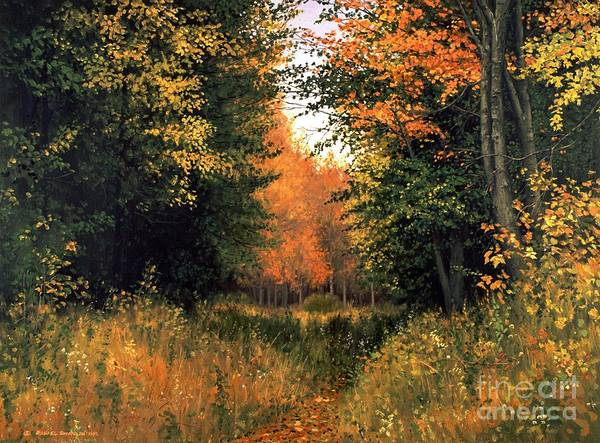 Autumn Landscape Poster featuring the painting My Secret Autumn Place by Michael Swanson