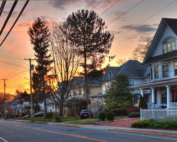 Landscape Poster featuring the photograph My Street by Robert Culver