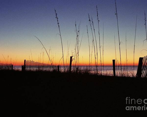 Myrtle Beach Sunrise Poster featuring the photograph Myrtle Beach Sunrise by Allen Beatty