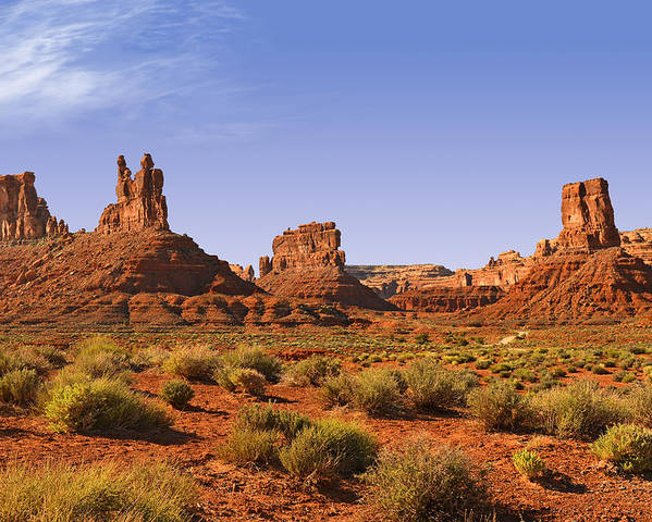 Valley Poster featuring the photograph Mysterious Valley Of The Gods by Christine Till