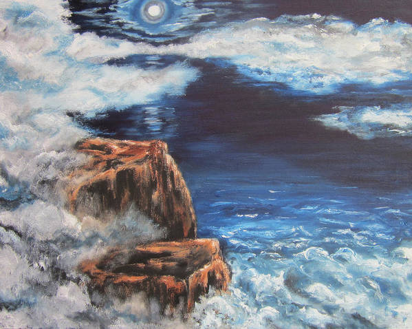 Ocean Poster featuring the painting Mysterious Water by Cheryl Pettigrew