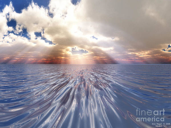 Nature Poster featuring the digital art Mystery Sea by Eric Nagel