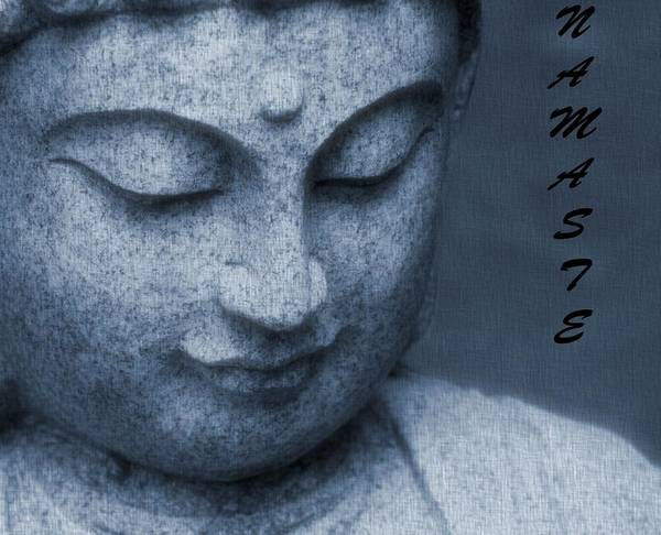 Namaste Poster featuring the photograph Namaste Buddha by Dan Sproul