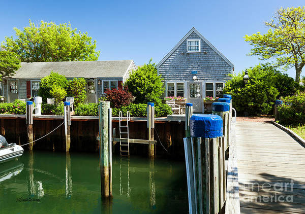 nantucket boat basin cottages in the spring poster by michelle rh fineartamerica com cottages at the boat basin cottages at the boat basin nantucket ma