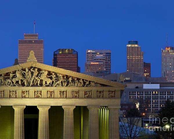 Parthenon Replica Poster featuring the photograph Nashville Parthenon by Brian Jannsen