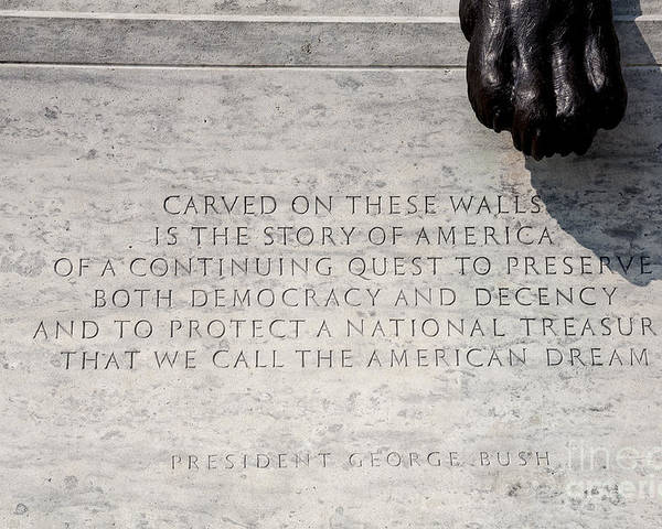 Commemorate Poster featuring the photograph National Law Enforcement Officers Memorial by William Kuta