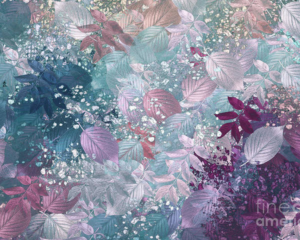 Abstract Digital Art Poster featuring the digital art Naturaleaves - S1002b by Variance Collections