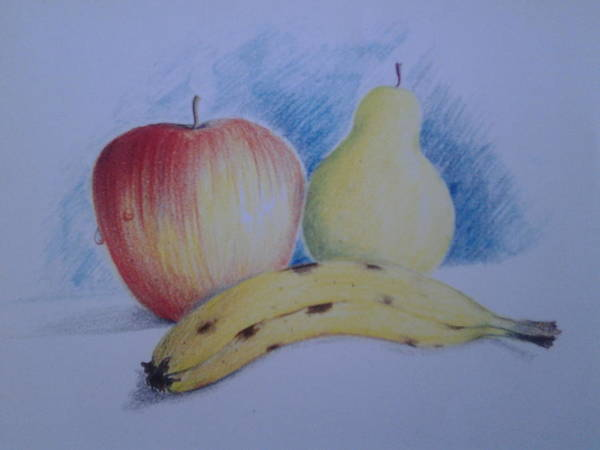 Landscape Of Fruits Poster featuring the drawing Nature by Geetika Pandey