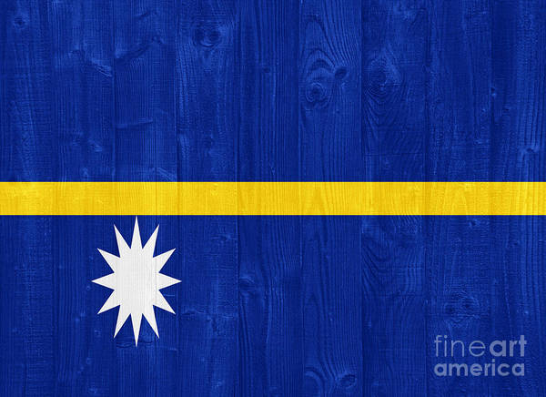 Nauru Poster featuring the photograph Nauru Flag by Luis Alvarenga