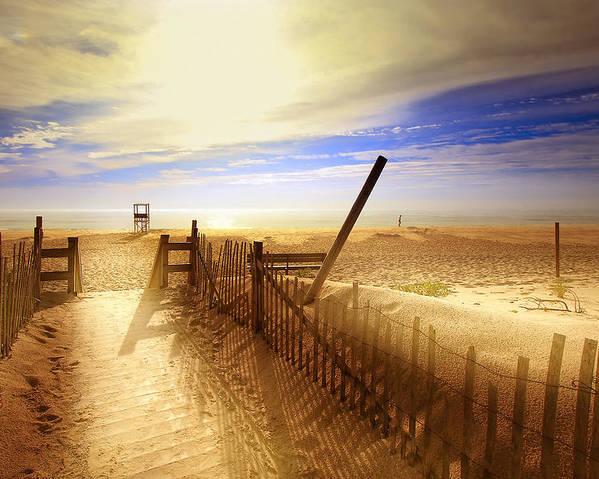 Beach Poster featuring the photograph Nauset Beach Early Morning by Dapixara Art